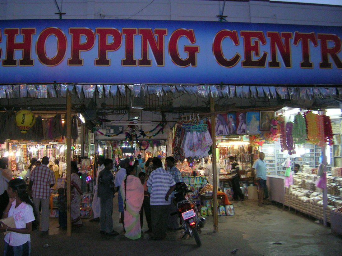Arcades at night
