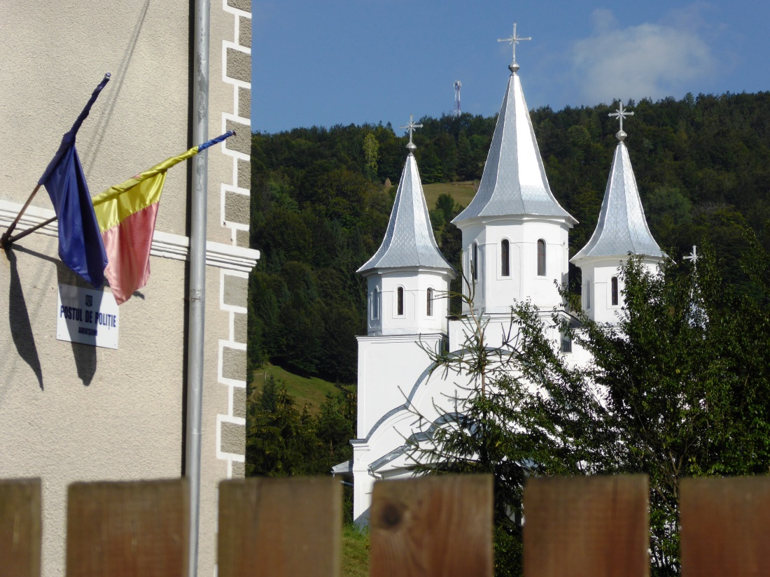 View of an Orthodox church in the mountains