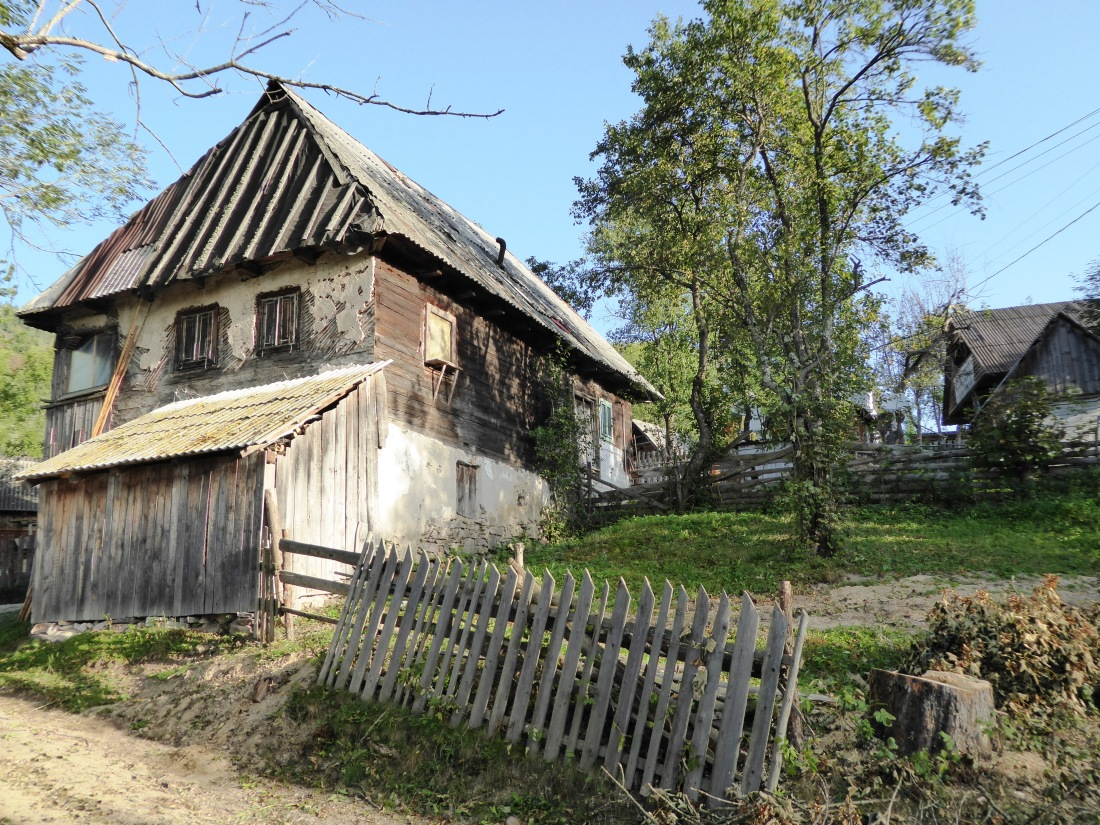 Typical old style wooden house