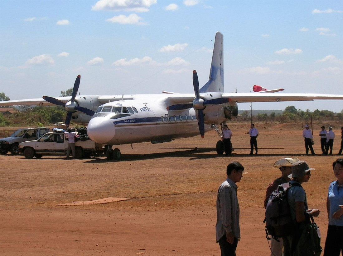 Twin prop to eastern Cambodia, 2008