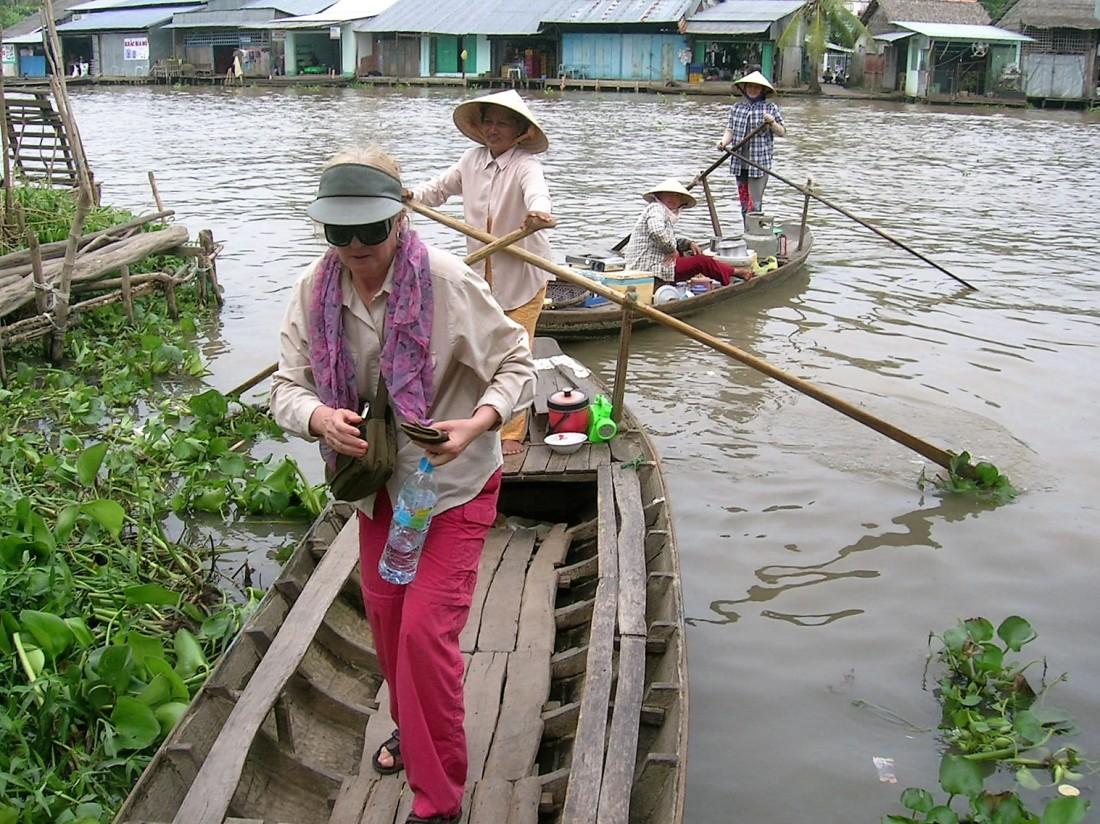 Small boat still - Mekong Delta