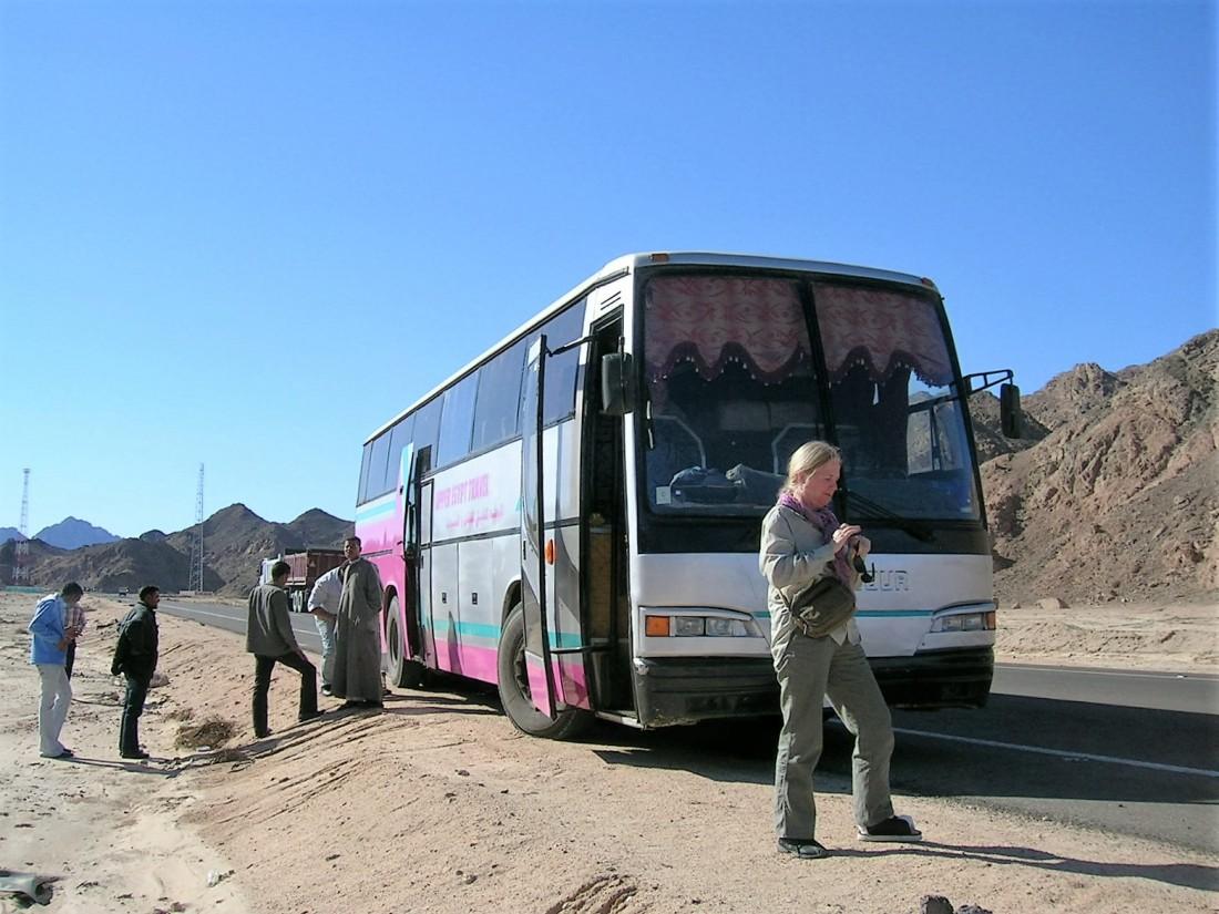 Bus to Abu Simbu, Egypt, 2010
