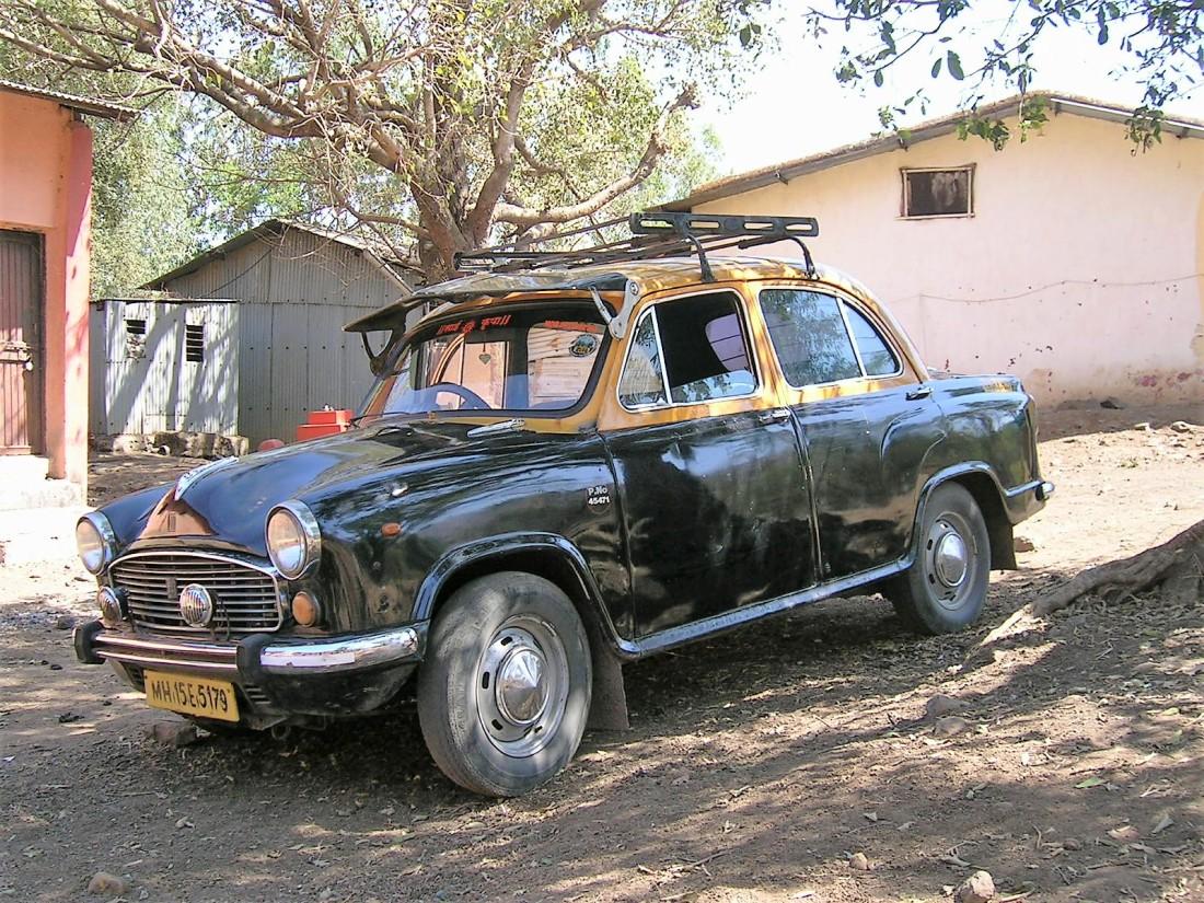 'Ambassador' taxi, India, 2009
